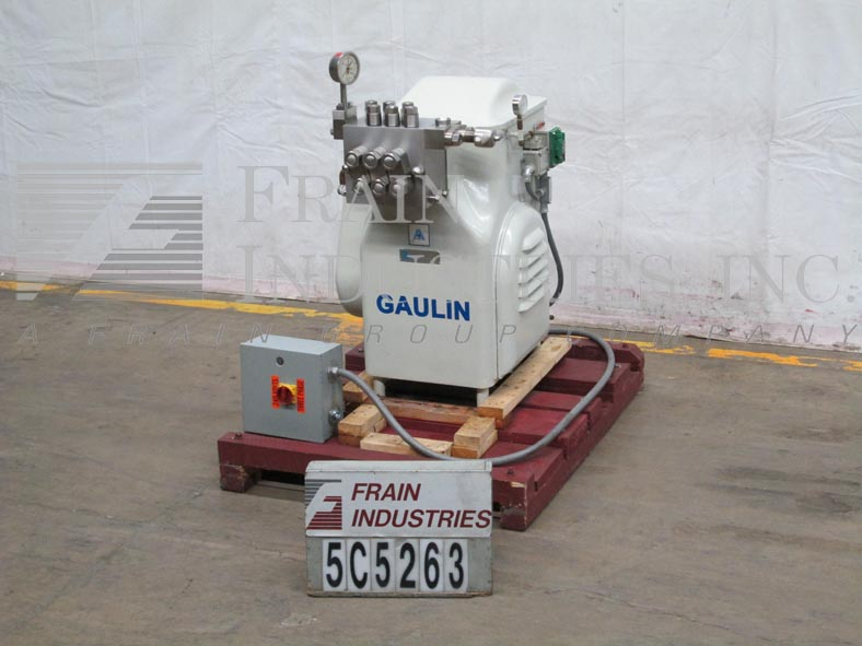 Gaulin Homogenizer Single Stage 90M38TBS