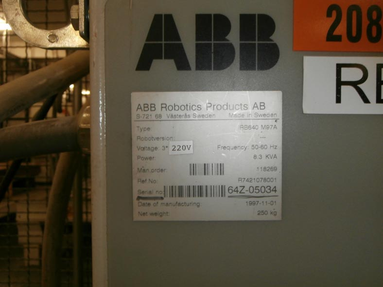ABB Automation Palletizer Robotic IRB640M97A