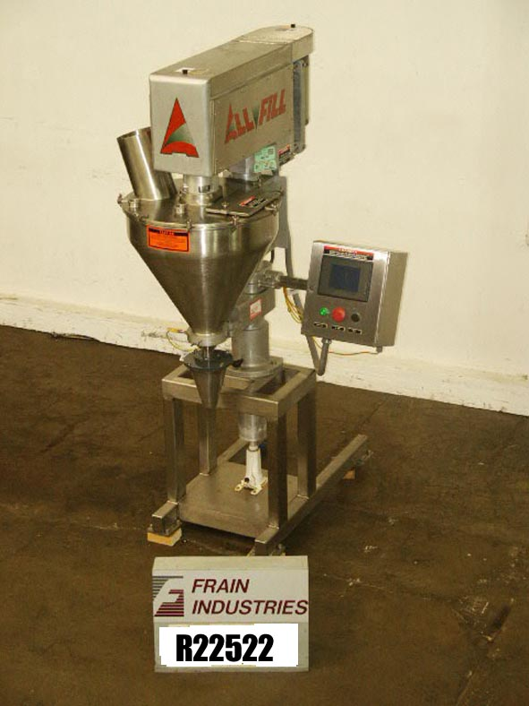 All Fill Filler Powder Auger B600 All Fill Semi Automatic 304 stainless steel auger filler capable of 120cpm