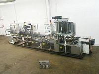 Photo of Bartelt Complete Line Powder  IM714 / IM6 Bartlet automatic intermittent motion horizontal form fill seal machine with 7&quot; centers capable of speeds up to 100 packages per minute